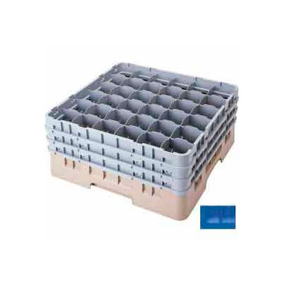 "Cambro 36S900168 - Camrack  Glass Rack Low Profile 36 Compartments 9-3/8"" Max. Height Blue - Pkg Qty 2"
