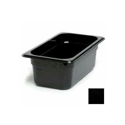"Cambro 44CW110 - Camwear Food Pan, Plastic, 1/4 Size, 4"" Deep, Polycarbonate, Black, NSF - Pkg Qty 6"