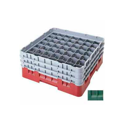 """Cambro 49S434119 - Camrack  Glass Rack 49 Compartments 5-1/4"""" Max. Height, Sherwood Green, - Pkg Qty 4"""