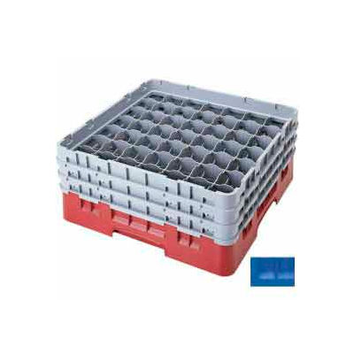 "Cambro 49S958168 - Camrack  Glass Rack 49 Compartments 10-1/8"" Max. Height, Blue - Pkg Qty 2"