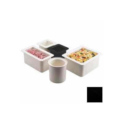 "Cambro 66CF110 - ColdFest Food Pan, 1/6 Size, 6"" Deep, Stackable, Black"