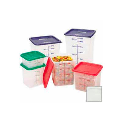 "Cambro 6SFSPP190 - Square Food Container, 6 Quart, 8-3/8"" x 8-3/8"" x 7-1/4"", Translucent - Pkg Qty 6"
