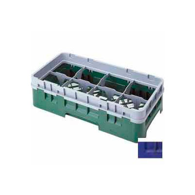 """Cambro 8HS800186 - Camrack  Glass Rack 8 Compartments 8-1/2"""" Max. Height Navy Blue NSF - Pkg Qty 2"""