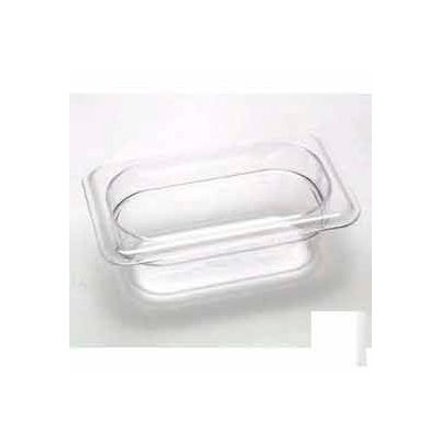 """Cambro 92CW135 - Food Pan, Plastic, 1/9 Size, 2-1/2"""" Deep, Clear - Pkg Qty 6"""