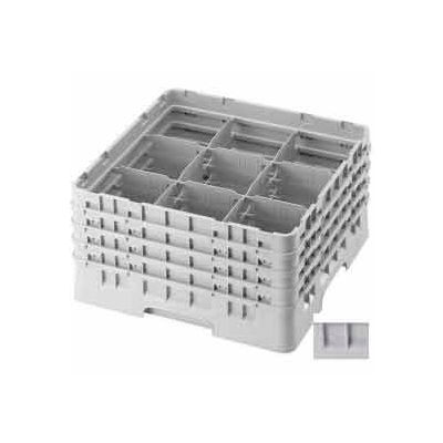"Cambro 9S1114151 - Camrack  Glass Rack 9 Compartments 11-3/4"" Max. Height Soft Gray NSF - Pkg Qty 2"