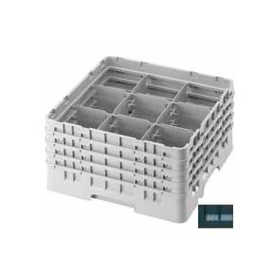 """Cambro 9S638110 - Camrack  Glass Rack 9 Compartments 6-7/8"""" Max. Height Black NSF - Pkg Qty 3"""