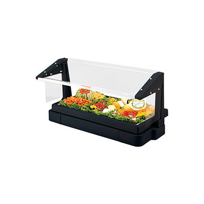 Cambro BBR720110 - Buffet Bar with Sneeze Guard 24 x 73, Black