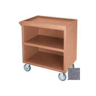 """Cambro BC330191 - Bus Cart 330 5"""" Casters (2 Fixed 2 Swivel 1 with Brake) Granite Gray NSF"""