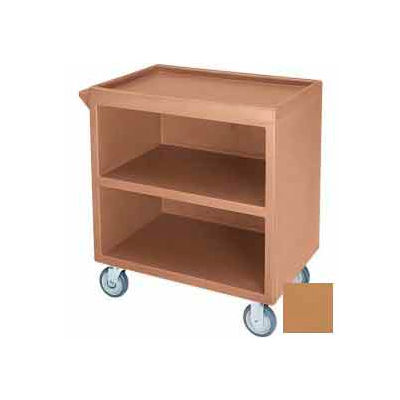 """Cambro BC3304S157 - Bus Cart 330 5"""" Casters (4 Swivel 1 with Brake) Coffee Beige"""