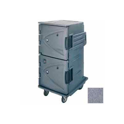 """Cambro CMBHC1826TSC191 - Hot Cold Cart Tall Profile Granite Gray Celsius 6"""" Rear Casters"""