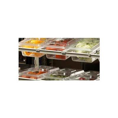 Divider Bar, angled, for Camshelving® Elements, Raised Bar, Speckled Grey
