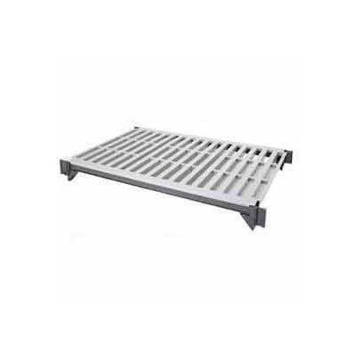 "Camshelving® Elements Mobile Shelf Plate Kit, 18""W x 60""L, Vented, Brushed Graphite"