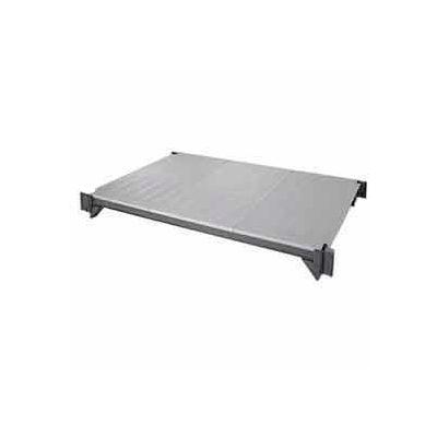 "Camshelving® Elements Mobile Shelf Plate Kit, 24""W x 60""L, Solid, Brushed Graphite"