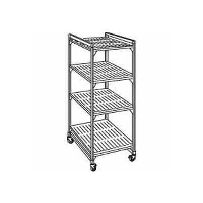 "Camshelving® Elements Mobile Starter Unit, 18""W x 36""L x 70""H, Brushed Graphite Premium Casters"