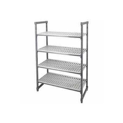 "Camshelving® Elements Starter Unit, 24""D x 60""W x 64""H, 4 Shelf, Brushed Graphite"