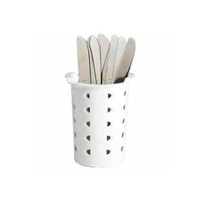 Cambro FWC56148 - Flatware Cylinder, White Plastic - Pkg Qty 12
