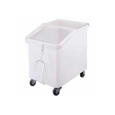 Cambro IBS37148-Mobile Ingredient Bin w/Lid, Polyethlene, 37 Gal, White