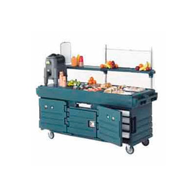 "Cambro KVC854519 - CamKiosk Cart 4 Pan Wells, 85-1/8"" x 33-1/2"" x 70-1/2"", Kentucky Green"