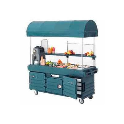 Cambro KVC854C426 - CamKiosk Cart 4 Pan Wells & Canopy, 85 x 33-1/2 x 94, Granite Gray Top & Doors