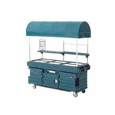 Cambro KVC856C192 - CamKiosk Cart 6 Pan Wells and Canopy, 85-1/8x33-1/2x94, Granite Green