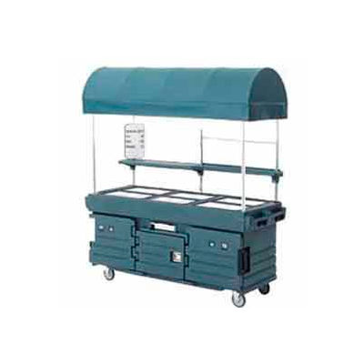 Cambro KVC856C426 - CamKiosk Cart 6 Pan Wells and Canopy, 85-1/8x33-1/2x94, Gray Top and Doors