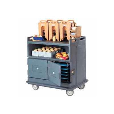 Cambro MDC24192 - Beverage Service Cart Recessed Top 44-1/2 x 30 x 44, Granite Green