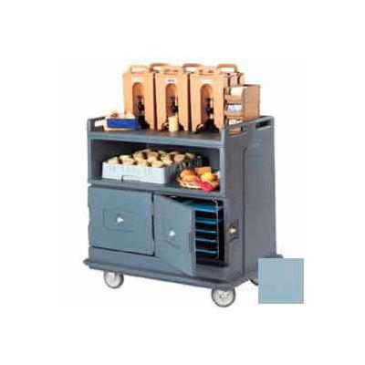 Cambro MDC24401 - Beverage Service Cart Recessed Top 44-1/2 x 30 x 44, Slate Blue