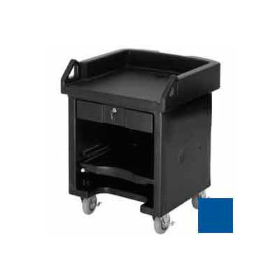 Cambro VCSHD186 - Versa Cash Register Cart Lockable Center Drawer, Heavy Duty Casters, Navy Blue