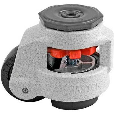 Foot Master® Swivel Stem Manual Leveling Caster GD-80S-1/2 - 1100 Lb. - 63mm Dia. Nylon Wheel