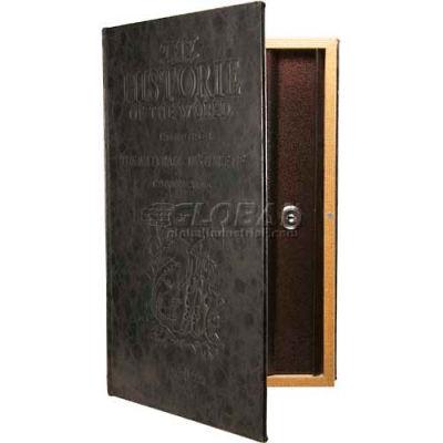 "Barska Large Antique Book Diversion Safe CB11992 with Key Lock, 8-3/4""W x 2-3/4""D x 13""H, Brown"