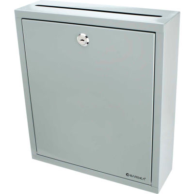 "Barska CB12712 Multi Purpose Drop Box 11-1/2""W x 3-1/2""D x 13""H, Gray"