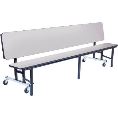 NPS® 7' Mobile Convertible Bench Unit - Particleboard Top - Gray