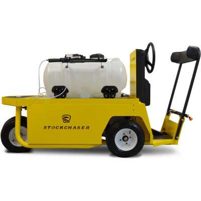 Columbia Sanitization Stockchaser 4 Wheel Burden Carrier with Spray Bar, 48V