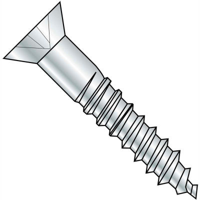 "#10 x 1"" Wood Screw - Phillips Flat Head - Steel - Zinc Plated - 100 Pack - Crown Bolt 21002"