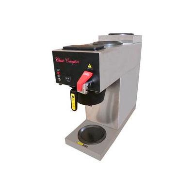 Stainless Steel Coffee Brewer w/ (3) Warming Plates, MRC3AF