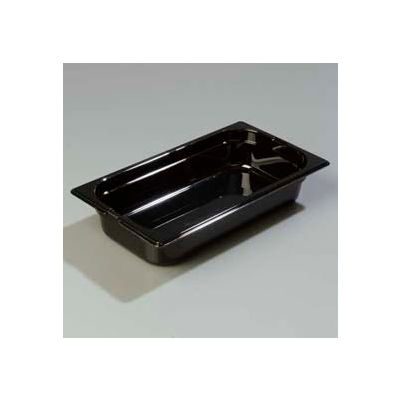 "Carlisle 1026003 - Topnotch® One-Third Size Food Pan 12-3/4"" x 7"", Black - Pkg Qty 6"
