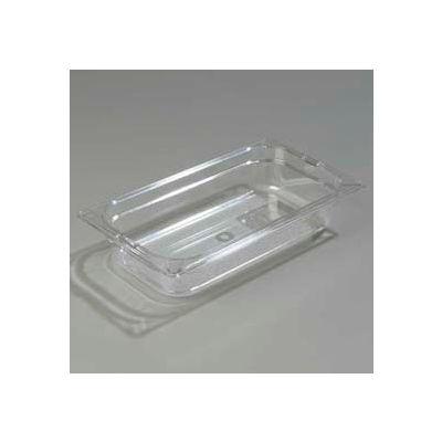 "Carlisle 1026007 - Topnotch® One-Third Size Food Pan 12-3/4"" x 7"", Clear - Pkg Qty 6"