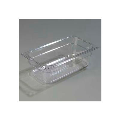 "Carlisle 1026107 - Topnotch® One-Third Size Food Pan 12-3/4"" x 7"", Clear - Pkg Qty 6"