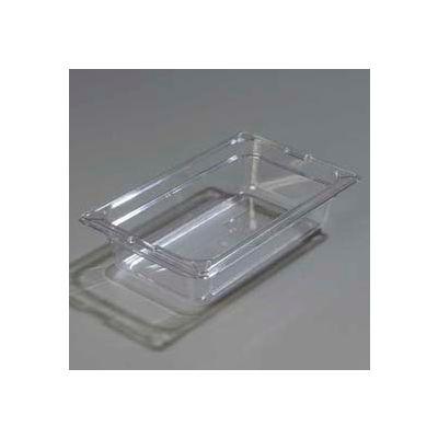 "Carlisle 1028007 - Topnotch® One-Quarter Size Food Pan 10-1/4"" x 6-3/8"", Clear - Pkg Qty 6"