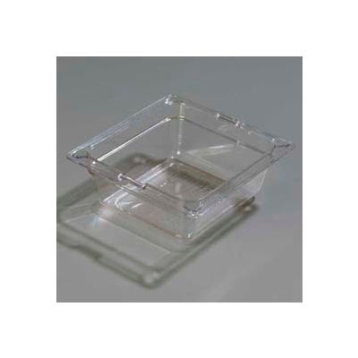 "Carlisle 1030007 - Topnotch® 1/6 Size Food Pan 6-25/32"" x 6-3/8"", Clear, 2.5"" Deep - Pkg Qty 6"