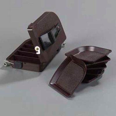 "Carlisle 103001 - Money Maid Rectangular Combo Pack W/Six Coin Trays, 6-7/8"", 4-1/32"", 2-1/4"", Brown"