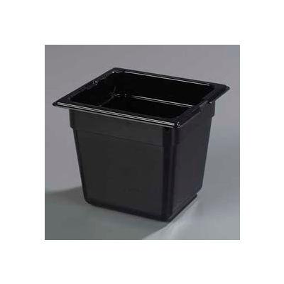 """Carlisle 1030203 - Topnotch® 1/6 Size Food Pan 6-25/32"""" x 6-3/8"""", Black - Pkg Qty 6"""