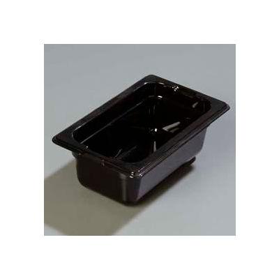 "Carlisle 1032003 - Topnotch® One-Ninth Size Pan 6-3/4"" x 4-1/4"", Black, 2.5"" Deep - Pkg Qty 6"