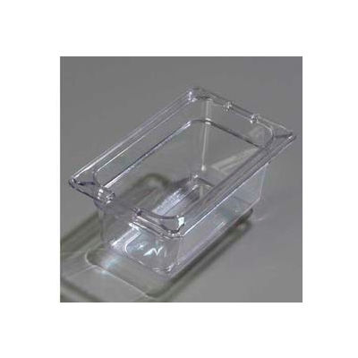 "Carlisle 1032107 - Topnotch® One-Ninth Size Pan 6-3/4"" x 4-1/4"", Clear - Pkg Qty 6"