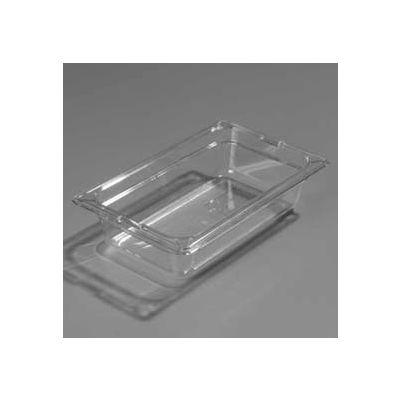 """Carlisle 1048003 - Topnotch® One-Quarter Size Pan 10-1/4"""" x 6-3/8"""", Black - Pkg Qty 6"""