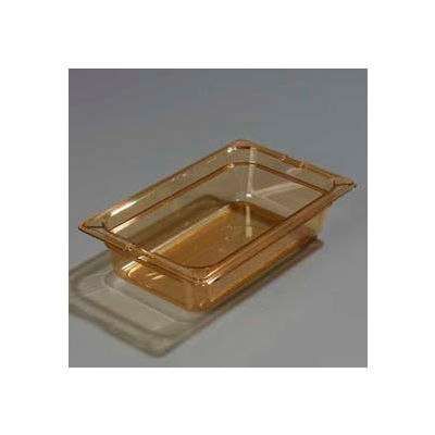 "Carlisle 1048013 - Topnotch® One-Quarter Size Pan 10-1/4"" x 6-3/8"", Amber, 2.5"" Deep - Pkg Qty 6"