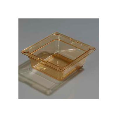 "Carlisle 1050013 - Topnotch® 1/6 Size Food Pan 6-25/32"" x 6-3/8"", Amber, 2.5"" Deep - Pkg Qty 6"