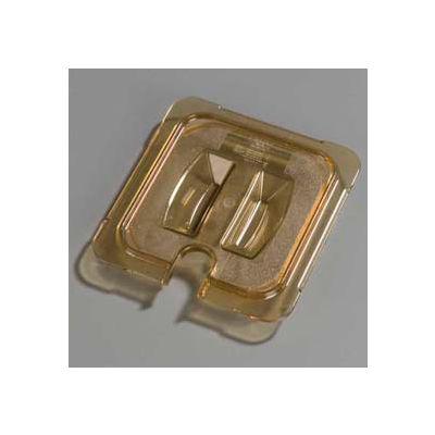 "Carlisle 10511U13 - Topnotch® Universal Handled Notched Lid 6-3/4"" x 6-3/8"", Amber - Pkg Qty 6"