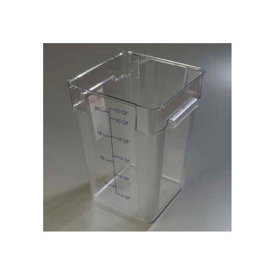 Carlisle 1072607 - Storplus™ Container 22 Qt., Clear - Pkg Qty 6