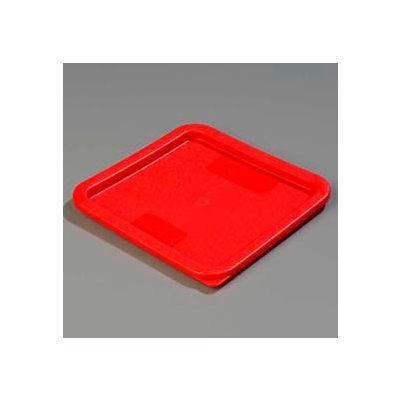 "Carlisle 1074105 - Storplus™ 6-8 Qt. Lid 9"", 9"", 5/8"", Red - Pkg Qty 6"